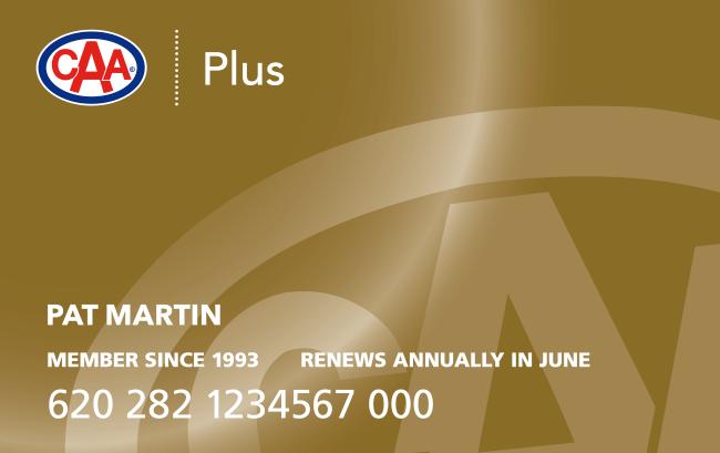 CAA Membership Card Plus