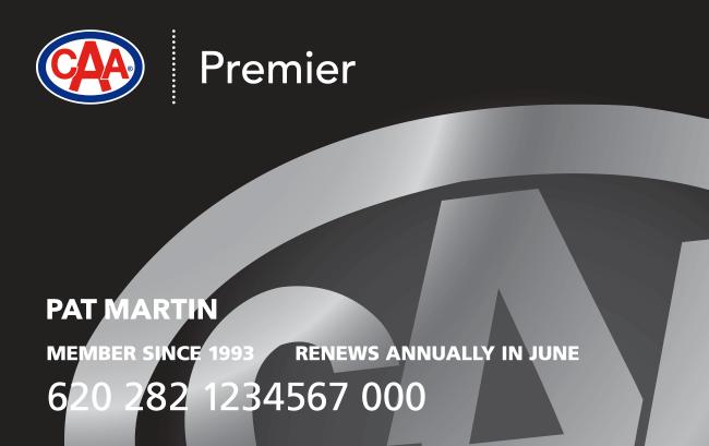 CAA Membership Card Premier